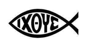 Ichthus (du grec ancien ἰχθύς / ichthys, « poisson ») est l'un des symboles majeurs qu'utilisaient les premiers chrétiens en signe de reconnaissance. Il représente le Sauveur durant les débuts de l'église primitive. En grec, c'est un acronyme pour Jésus-Christ, le Fils de Dieu, notre Sauveur. Désormais, il reste un symbole stylisé en forme de poisson formé de deux arcs de cercle.